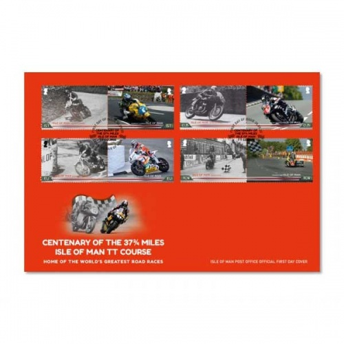 Centenary of the 37¾ miles Isle of Man TT Course First Day Cover