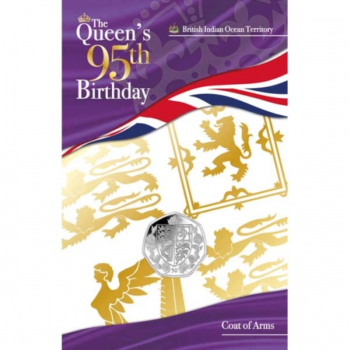 The Queens 95th Birthday Coat of Arms 2021 Cupro Nickel 50p Coin