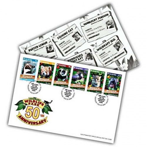 Curraghs Wildlife Park 50th Anniversary First Day Cover