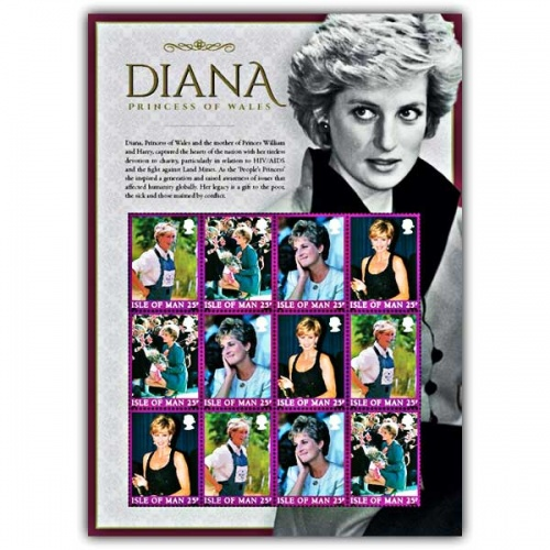 Diana, Princess of Wales Commemorative Sheetlet and Folder (Mint)
