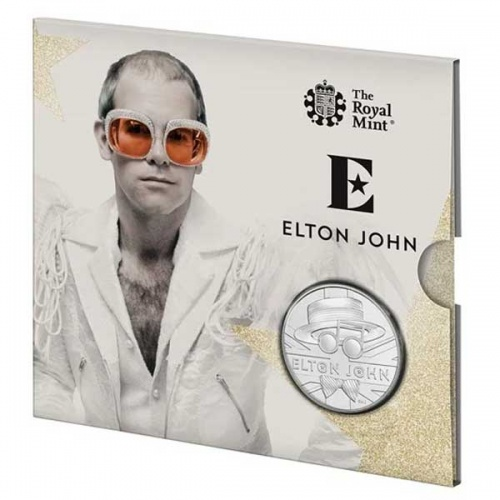 Elton John 2020 UK £5 Brilliant Uncirculated Coin