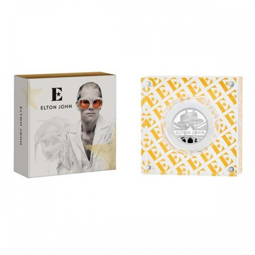 Elton John 2020 UK Half Ounce Silver Proof Coin