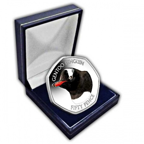 The Gentoo Penguin 2018 50p Cupro Nickel Coin