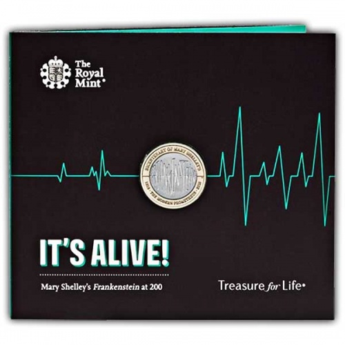 Frankenstein 2018 UK £2 Brilliant Uncirculated Coin