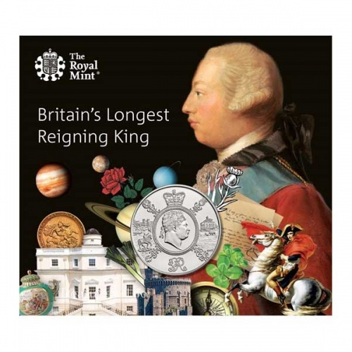 A Celebration of the Reign of George III 2020 UK £5 BU Coin