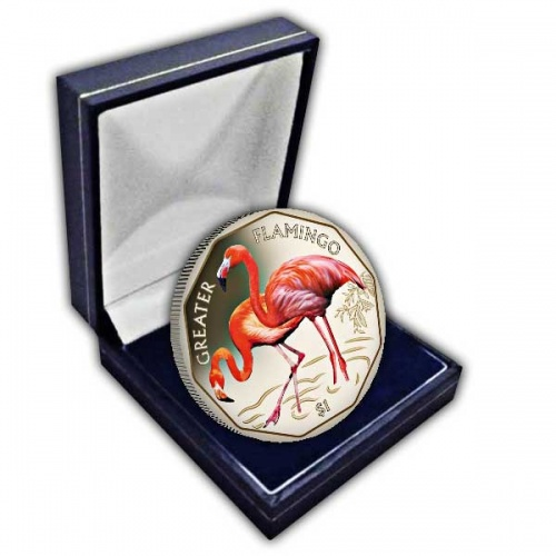 The 2019 Greater Flamingo Coloured Virenium Coin