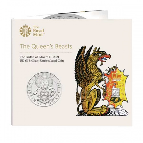 The Griffin of Edward III 2021 UK £5 Brilliant Uncirculated Coin