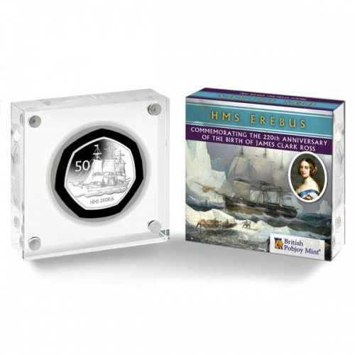 HMS Erebus 2020 Proof Silver 50p Coin