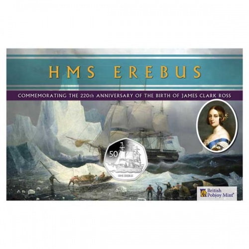 HMS Erebus 2020 Uncirculated Diamond Finish 50p Coin