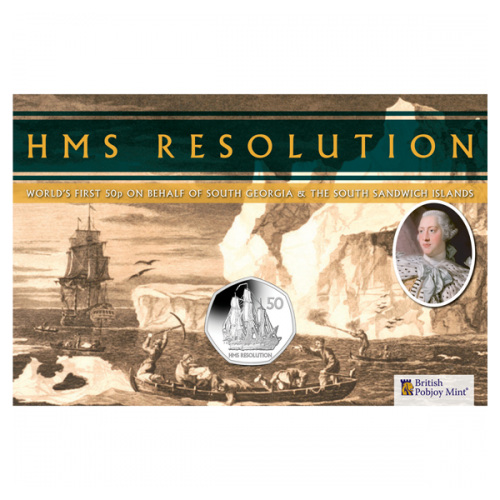HMS Resolution 2020 Uncirculated Diamond Finish 50p Coin