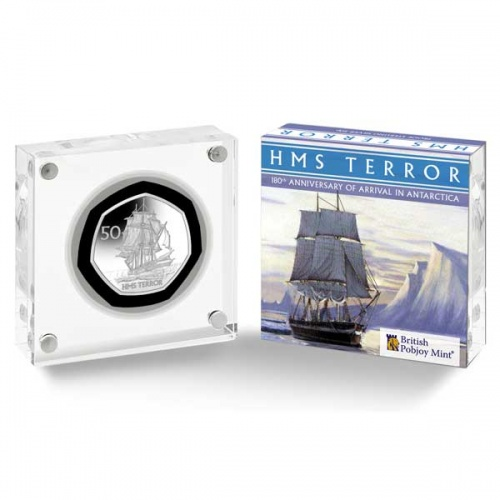 HMS Terror 2021 Proof Silver 50p Coin