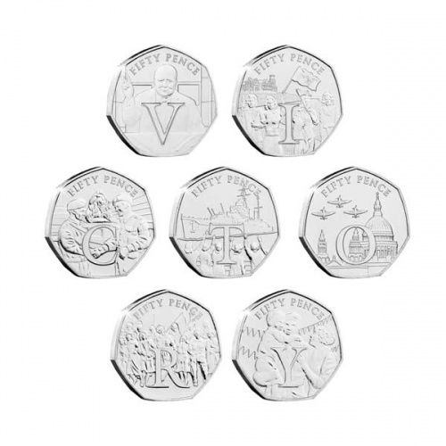 The 75th Anniversary of VE Day 50p Coin Set
