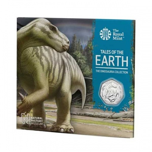 Iguanodon 2020 UK Brilliant Uncirculated 50p Coin
