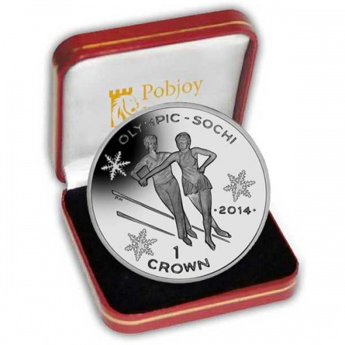 The 2013 Winter Olympic Skating Silver Coin