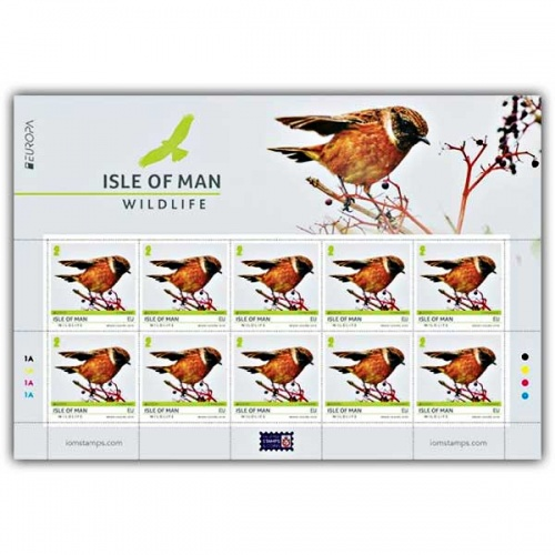 Isle of Man Wildlife Europa CTO Sheetlet