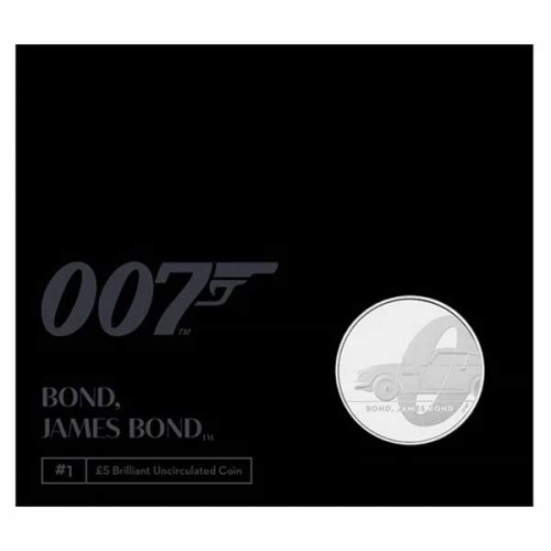 James Bond 2020 UK £5 Brilliant Uncirculated Coin