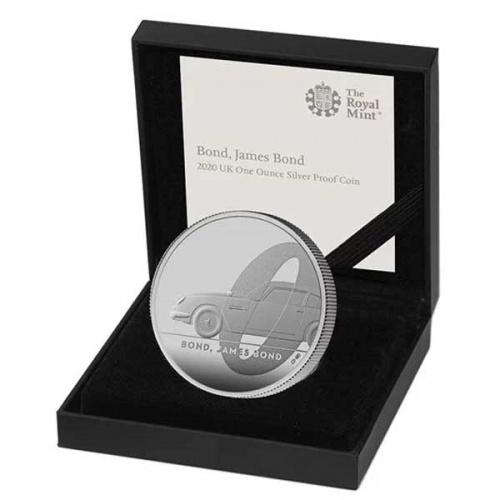 James Bond 2020 UK One Ounce Silver Proof Coin