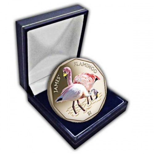 The 2019 James Flamingo Coloured Virenium Coin