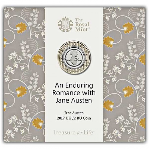 Jane Austen 2017 UK £2 Brilliant Uncirculated Coin