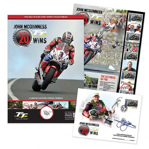 John McGuinness  The First 20 TT Wins Commemorative Folder