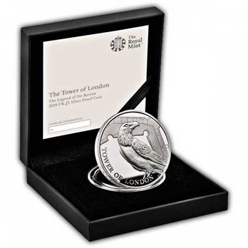 Legend of the Ravens 2019 UK £5 Silver Proof Coin