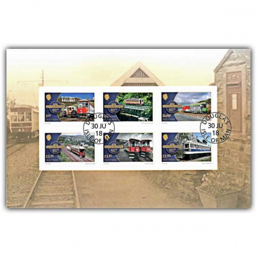 Manx Electric Railway 125th Anniversary Self Adhesive Pane (CTO)