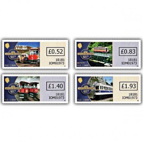 Manx Electric Railway 125th Anniversary Variable Value Definitives (Mint)