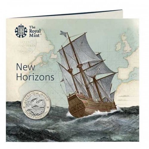 Mayflower 2020 UK £2 Brilliant Uncirculated Coin