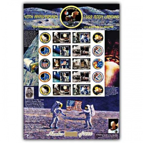 Moon Landing 1969-2009 Stamp Sheet