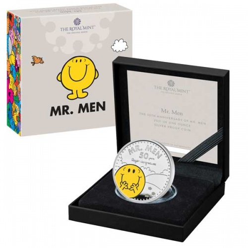Mr. Happy 2021 UK One Ounce Silver Proof Coin