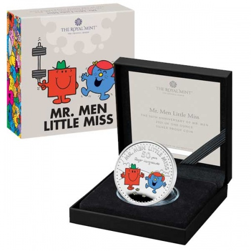 Mr. Strong and Little Miss Giggles 2021 UK One Ounce Silver Proof Coin