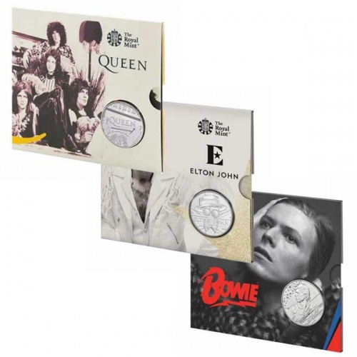 Music Legends 2020 £5 Brilliant Uncirculated Coin Set