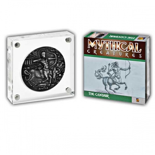 Mythical Creatures The Centaur 2018 2oz Proof Fine Silver High Relief Antique Finish Coin