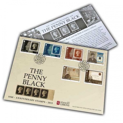 Penny Black and Birth of Stanley Gibbons First Day Cover