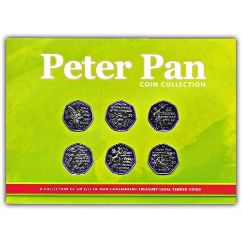 Peter Pan 2019 50p BU Coin Set