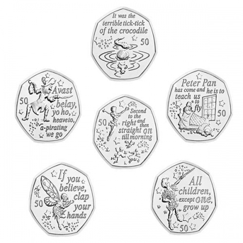 Peter Pan 2019 50p Coin Set