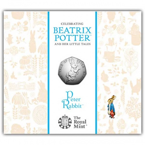 Peter Rabbit 2017 UK 50p BU Coin