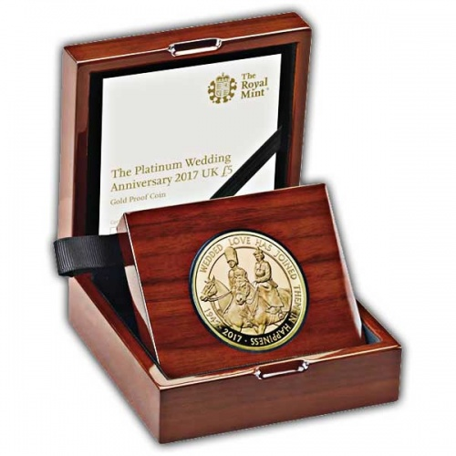 Platinum Wedding 2017 UK £5 Gold Proof Coin