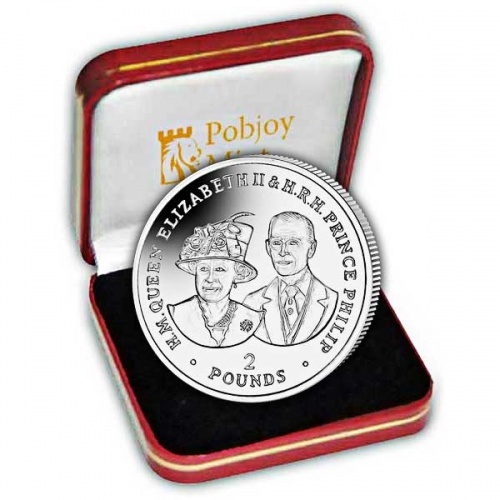 Platinum Wedding Anniversary ''80th Birthday'' 2017 Silver Coin