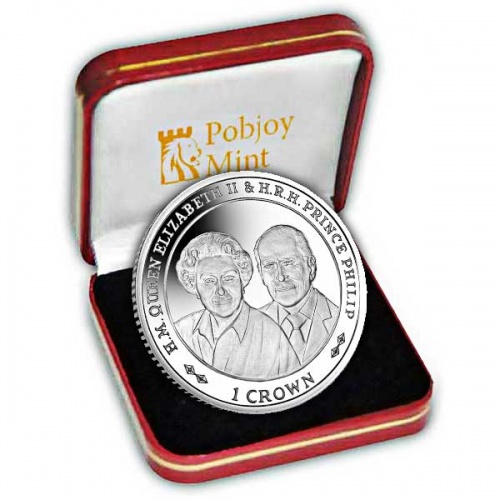 Platinum Wedding Anniversary ''90th Birthday'' 2017 Silver Coin