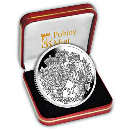 Platinum Wedding Anniversary ''Coat of Arms'' 2017 Silver Coin