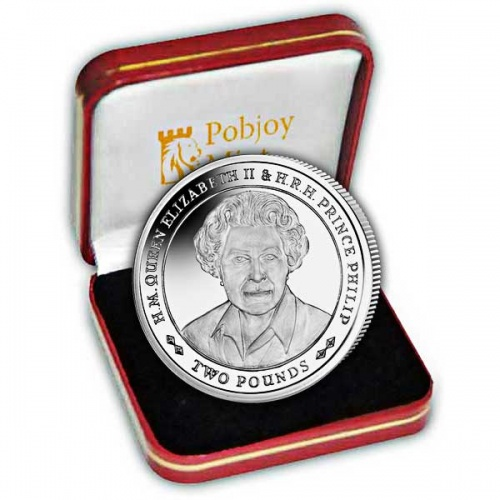 Platinum Wedding Anniversary ''Portrait of Queen Elizabeth'' 2017 Silver Coin