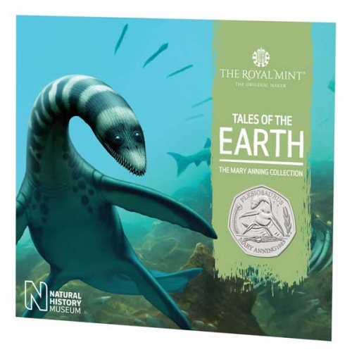 Plesiosaurus 2021 UK Brilliant Uncirculated 50p Coin