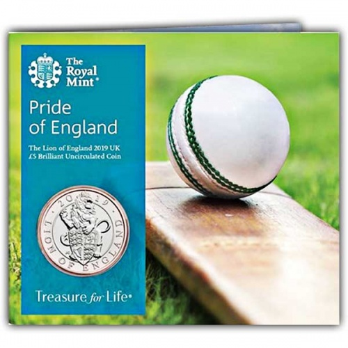 Pride of England 2019 UK £5 Brilliant Uncirculated Coin