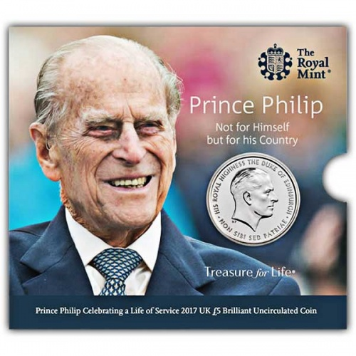 Prince Philip Celebrating a Life of Service 2017 UK £5 BU Coin
