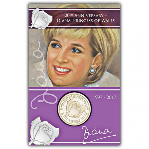 Death of Princess Diana 2017 Virenium Rose Coin in Pack