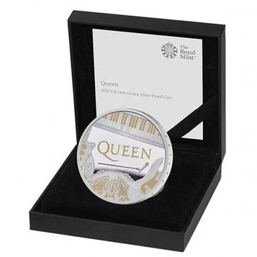 Queen 2020 UK One Ounce Silver Proof Coin
