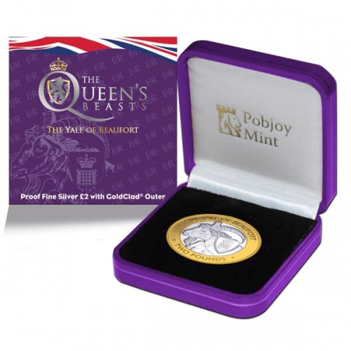 Queen's Beast – The Yale of Beaufort 2021 £2 Silver Proof Coin