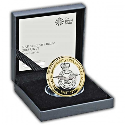 RAF Centenary Badge 2018 UK £2 Silver Proof Coin