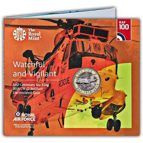 RAF Centenary Sea King 2018 UK £2 Brilliant Uncirculated Coin